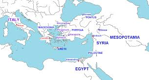 Egypt On World Map Vridar Map Of Second Century Christianities