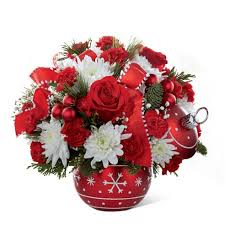 christmas flowers ornament christmas bouquet at send flowers
