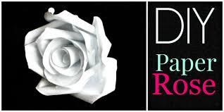 diy how to make a paper rose youtube