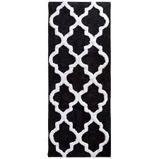 Black And White Bathroom Rug by Lavish Home 100 Cotton Trellis Bathroom Mat 2 U0027x 5 U0027 8357140 Hsn