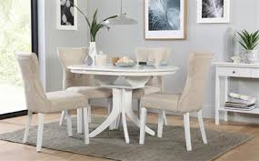 Dining Table And Chairs Cozy Dining Tables And Chairs Hudson White Extending Table