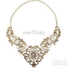 necklace vintage images Wholesale lace flower necklace vintage party necklace retro chain jpg