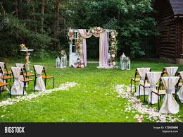 wedding arch using doors beautiful wedding ceremony outdoors image photo bigstock