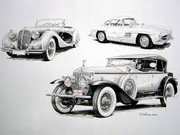 vintage art wallpaper car