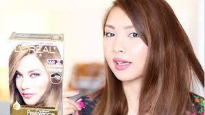 loreal ul61 how to dye dark hair to ash brown youtube
