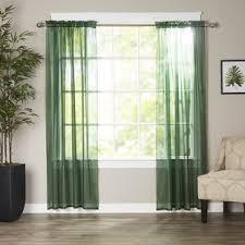 Green Sheer Curtains Green Sheer Curtains Wayfair