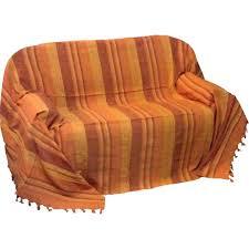 plaids canapé jete de canape plaid dessus de lit kerala papaye citron com
