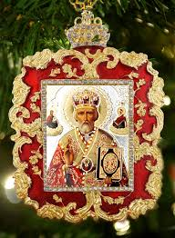 st nicholas square shaped ornament icon pendant at holy