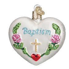 baptism christmas ornament heart ornament world christmas