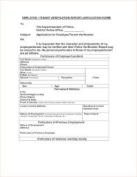 Employee Expense Report Form by 4 Tenant Verification Form Outline Templates
