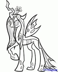 mlp printable coloring pages draw queen chrysalis 4268