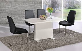 Gloss Dining Tables Chic Ideas White Gloss Dining Table All Dining Room