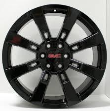 Avalanche Gmc New 22 Inch Gmc Black 8 Spoke Wheels Rims Gmc Sierra Yukon Denali