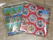 mickey mouse christmas wrapping paper mickey mouse christmas gift wrapping supplies ebay