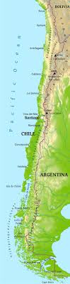 chile physical map maps of chile bizbilla