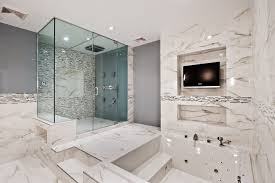 Bathroom  White Bathroom Sink White Glass Wall White Bathtubs - Bathroom design concepts