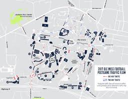 Mississippi State University Campus Map by Post Game Traffic Ole Miss Football