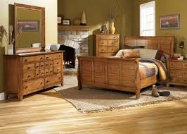 Oak Sleigh Bed Rustic Oak Finish Traditional Sleigh Bed W Optional Goods