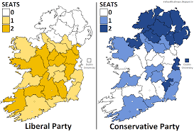 Uk Election Map by Irish Political Maps Uk General Election 1865 Ireland