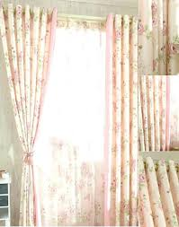 shabby chic curtains pink romantic pink floral poly cotton shabby