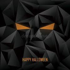 Halloween Poster Template Low Poly Background Stock Vector