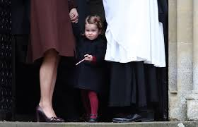 St Mark S Church Berkshire Prince George And Princess Charlotte Walking To Church On Christmas