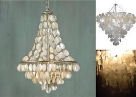 diy home lighting design chandeliers design magnificent worlds away capiz chandelier