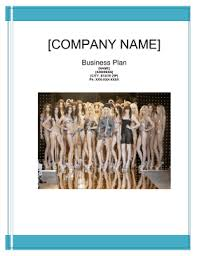 model and talent agency business plan