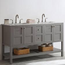 60 Double Sink Bathroom Vanity Reviews Beachcrest Home Newtown 60