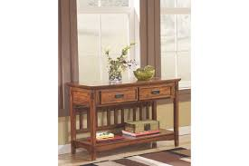 Sofa Table With Drawers Cross Island Sofa Console Table Ashley Furniture Homestore