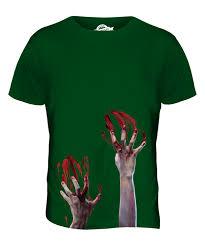 Chip Costume Ebay Zombie Hands Mens Printed Shirt Blood Halloween Costume