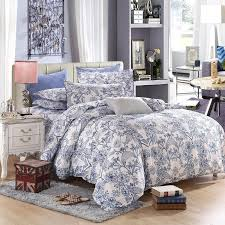 Porcelain Blue Duvet Cover The Nordic Style Bedding Set 4pcs Duvet Cover Set Twin Full Queen