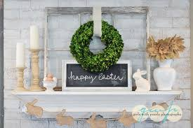 Easter Mantel Decorating Ideas by Pretty Easter Mantel Decorations Eighteen25