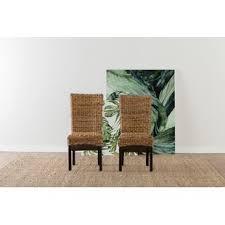 chaises en osier chaises de salle à manger matériau osier rotin wayfair ca