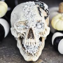skull decor diy jeweled skull decor craftgawker