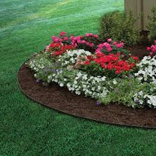 decor stone landscape edging ideas with flowers and green grass