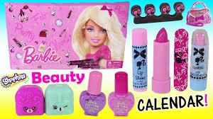 barbie makeup calendar 24 beauty lip gloss lipstick