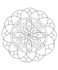 free easy mandalas to print coloring pages mandala animals simple