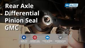 how to install replace rear axle differential pinion seal buy