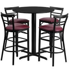 Comfortable Bar Stools With Backs Metal High Bar Stool In Black Finished Having Backrest Using