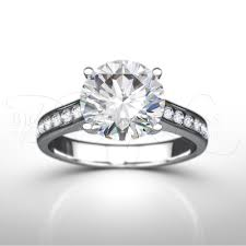 engagement rings uk four claw diamond engagement ring with diamond shoulders