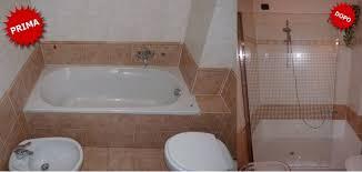 rimozione vasca da bagno vasca in doccia senza opere murarie