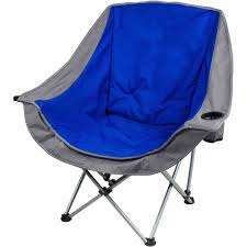 Small Fold Up Camping Chairs Ozark Trail Folding Lounge Chair With 2 Cup Holders Blue