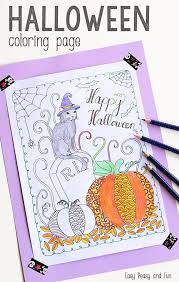 easy peasy coloring page halloween coloring page for kids adults easy peasy and fun