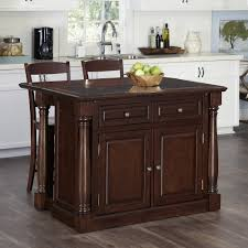 cherry kitchen island monarch cherry kitchen island and two stools homestyles