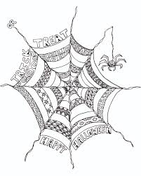 Halloween Drawing Activities Free Halloween Coloring Page Spider Web Free