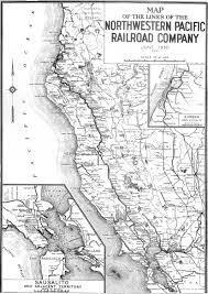 Pacific Northwest Map Northwestern Pacific Railroad Historical Society