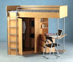 Double Size Loft Bed With Desk Wardrobes Full Size Loft Bed With Desk And Storage Small