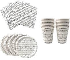 mindamusic store sheet paper plates cups napkins set