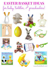 easter baskets for babies easter basket ideas for baby toddler and preschoolers